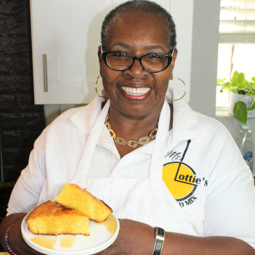 Ms. Lottie creator of Ms Lotties Cornbread Mix