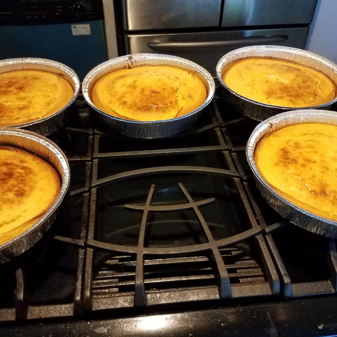 Cornbread in the oven
